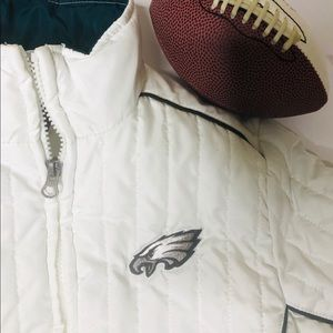 NFL Jackets & Coats - NFL Philadelphia Eagles White Full-Zip Jacket S